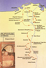 Route of Holy Family through Egypt