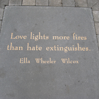 Love lights more fires than hate extinguishes